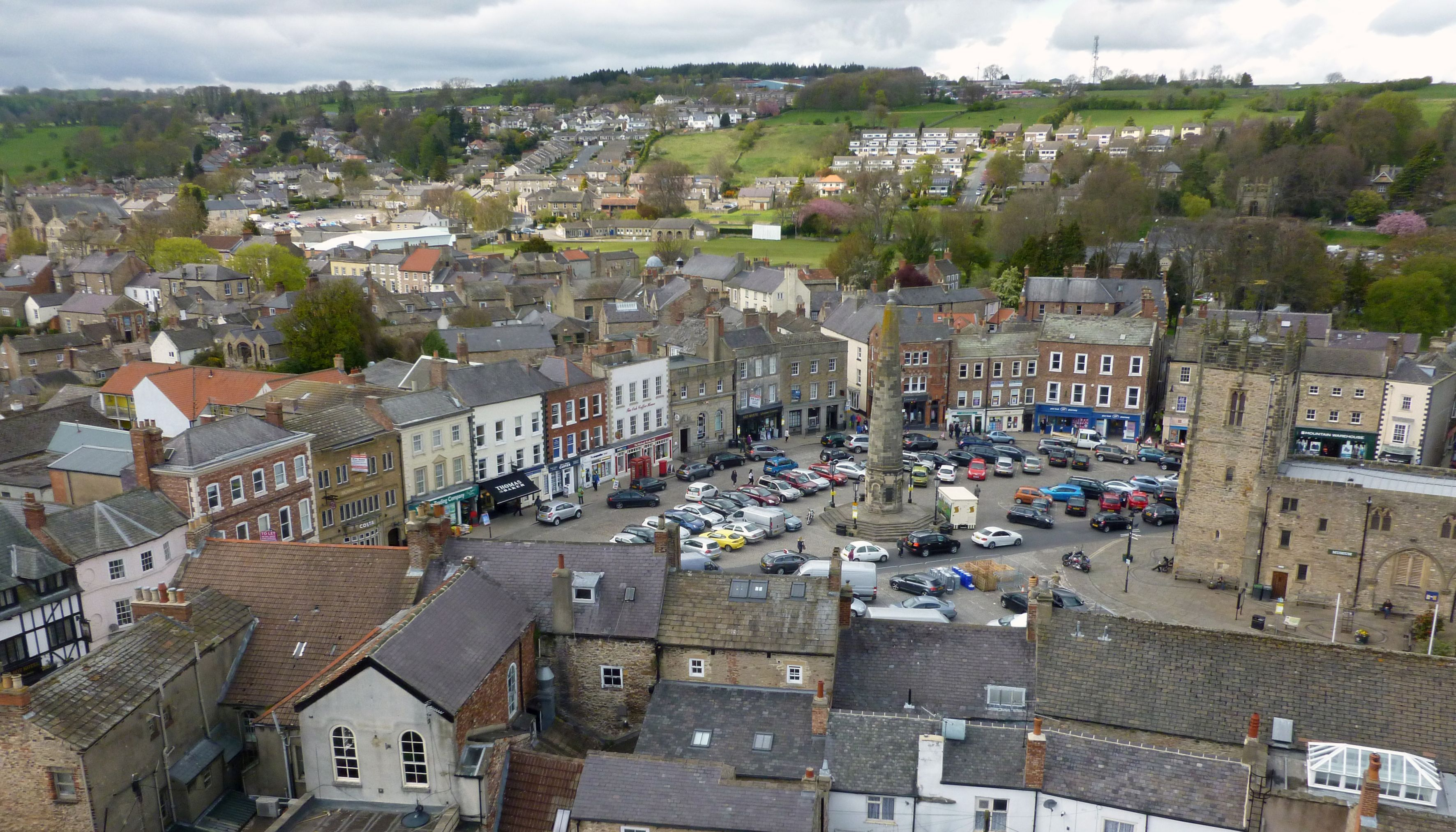 Richmond from the castle tower - North Yorkshire
